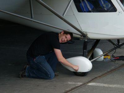 geplatzten Reifen an einer C42 reparieren