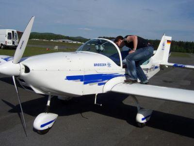 Flugvorbereitungen am Breezer